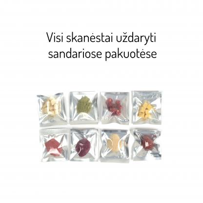 Bruzdukų advento kalendorius - supakuoti liofilizuoti skanėstai