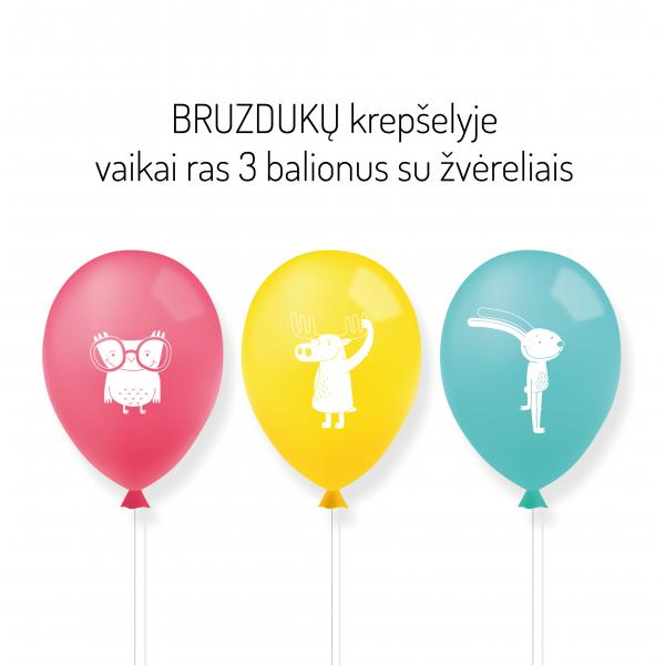 Bruzdukai: balionai su žvėreliais