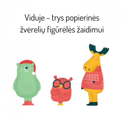 Bruzdukų žvėreliai - popierinės figūrėlės